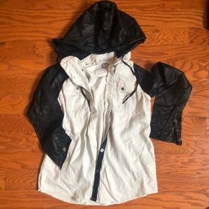 Hooded Button Down Jacket / Shirt